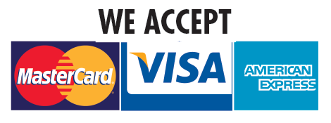 We Accept Mastercard, Visa, American Express